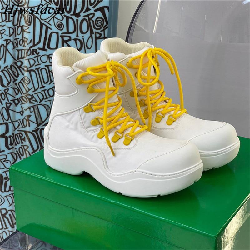 Hjwsfdcai جديد الشتاء حذاء مسطح الدانتيل متابعة النساء أحذية رياضية جولة تو سميكة أسفل زوجين حذاء للسير مسافات طويلة أحذية منصة الموضة