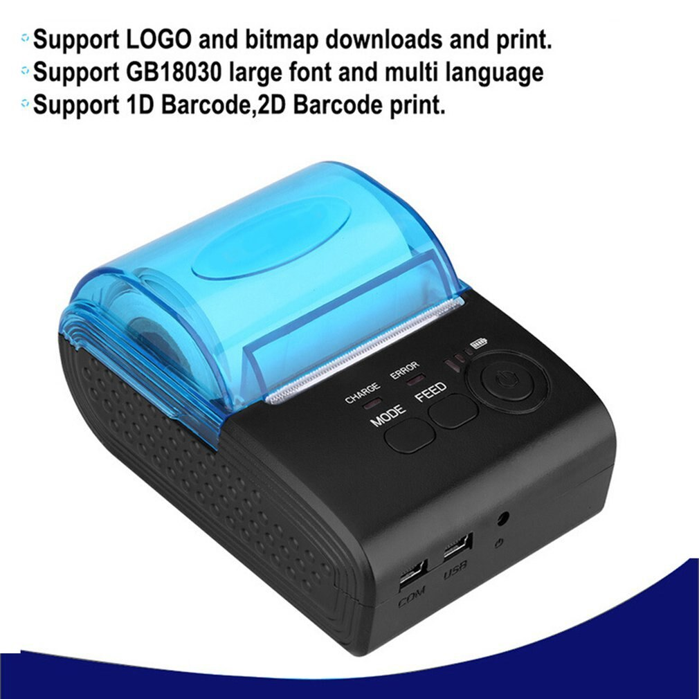 Mini Design High-speed Printing 58mm Wireless 4.0 Portable Thermal Printer Portable Wireless Printer Portable Printer