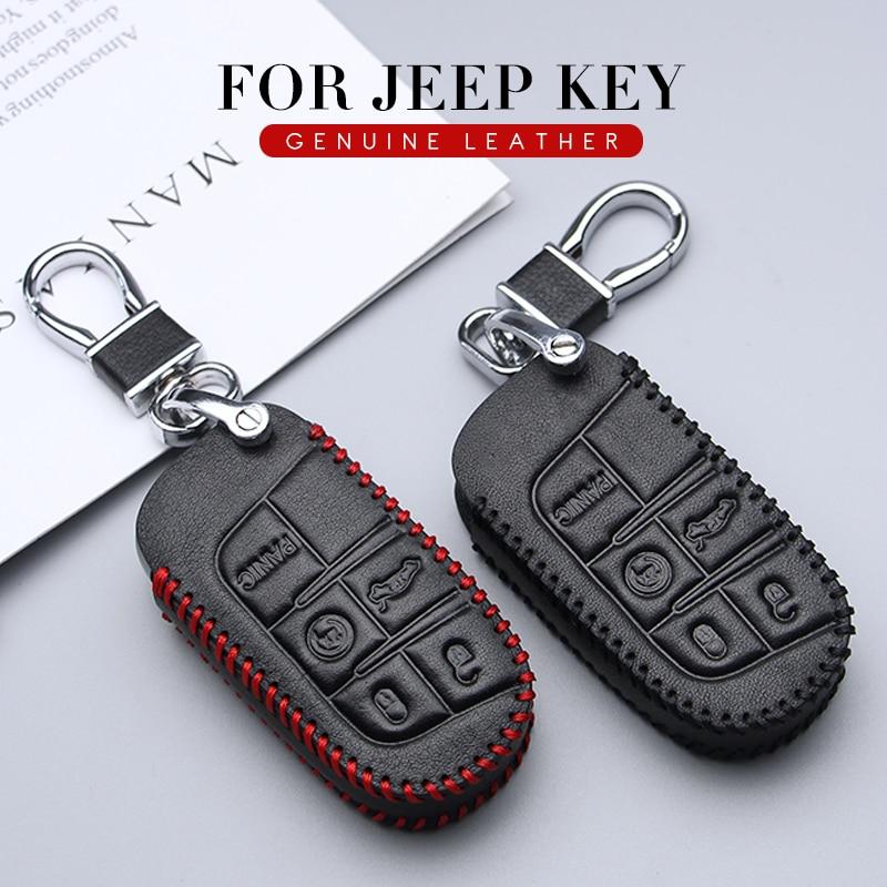 Funda para llavero de estilo de coche para Jeep Patriot Compass Wrangler cheroki Liberty Renegade llavero 2019 soporte para llave a distancia