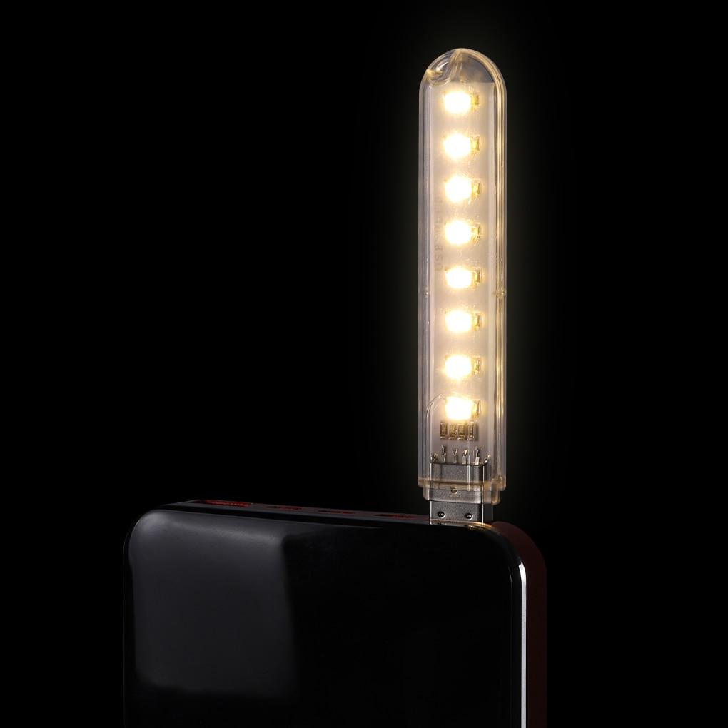 Mini Portable USB LED Book Light DC5V Ultra Bright Reading Book Lamp 3leds 8leds SMD 5630 5730 Lights For PC Laptop Notebook