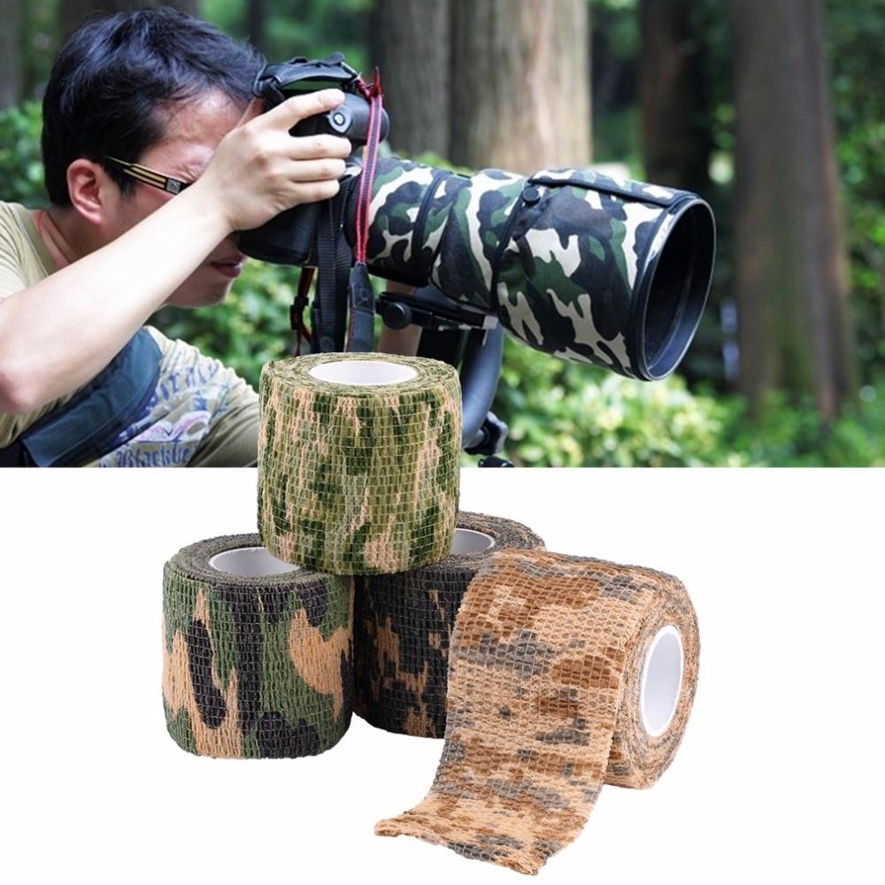 5 см x 4,5 м военный камуфляж Стелс лента Обёрточная бумага рулон охотничье ружье инструмент для стрельбы на открытом воздухе Водонепроницаем...
