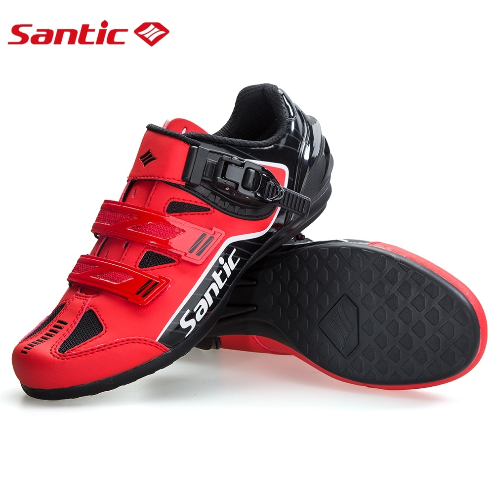 Santic Unlocked Cycling Shoes Men Professional Road Bike Cycling Sneakers Breathable Mesh Rubber Outsole Non Lock Bicycle Shoes