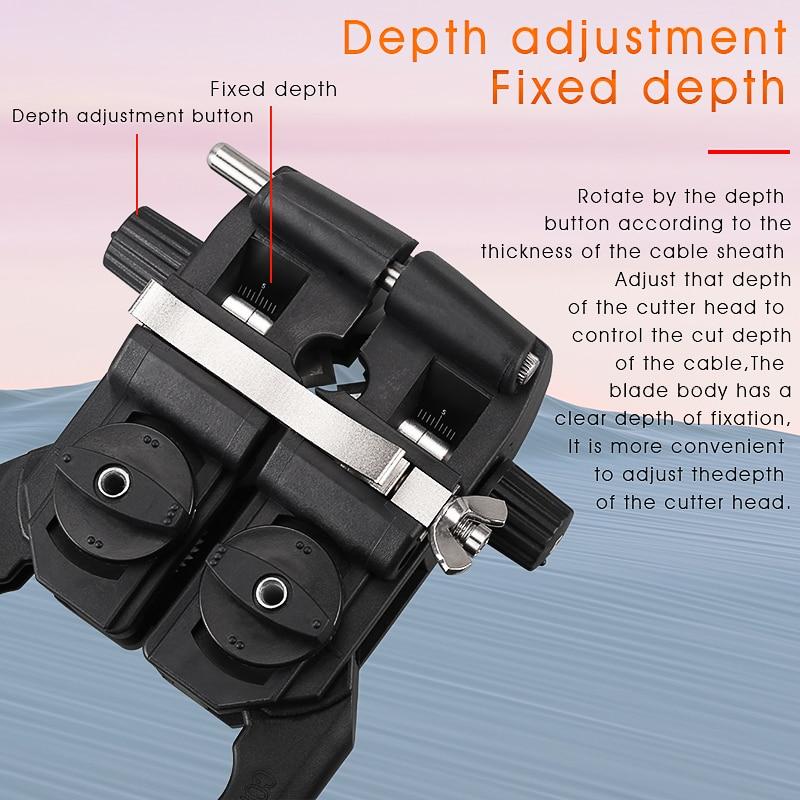 AUA-F9 Fiber Optic Stripper Longitudinal Cable Jacket Slitter Cable Sheath Opening Cutter 8-30mm enlarge