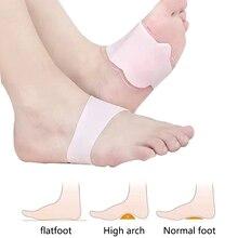 2pcs Arch Support Orthopedic Foot Pad Flat Feet High Arches Foot Valgus Correction Massage Feet Sili
