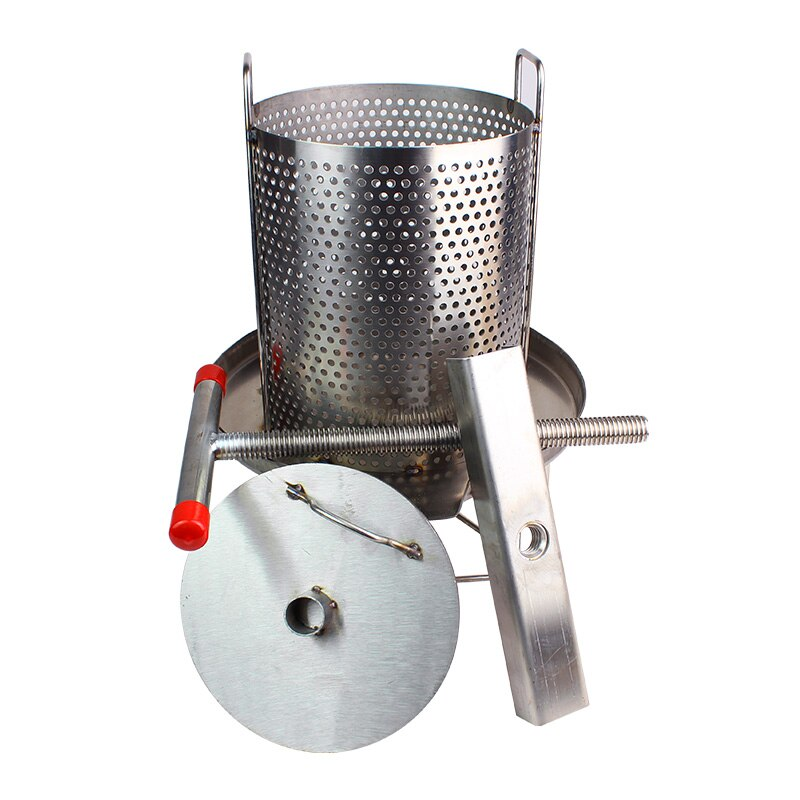 Stainless Steel Wine Press Fruit Press, Beekeeping Honey Press Machine, Solid Honey Presser