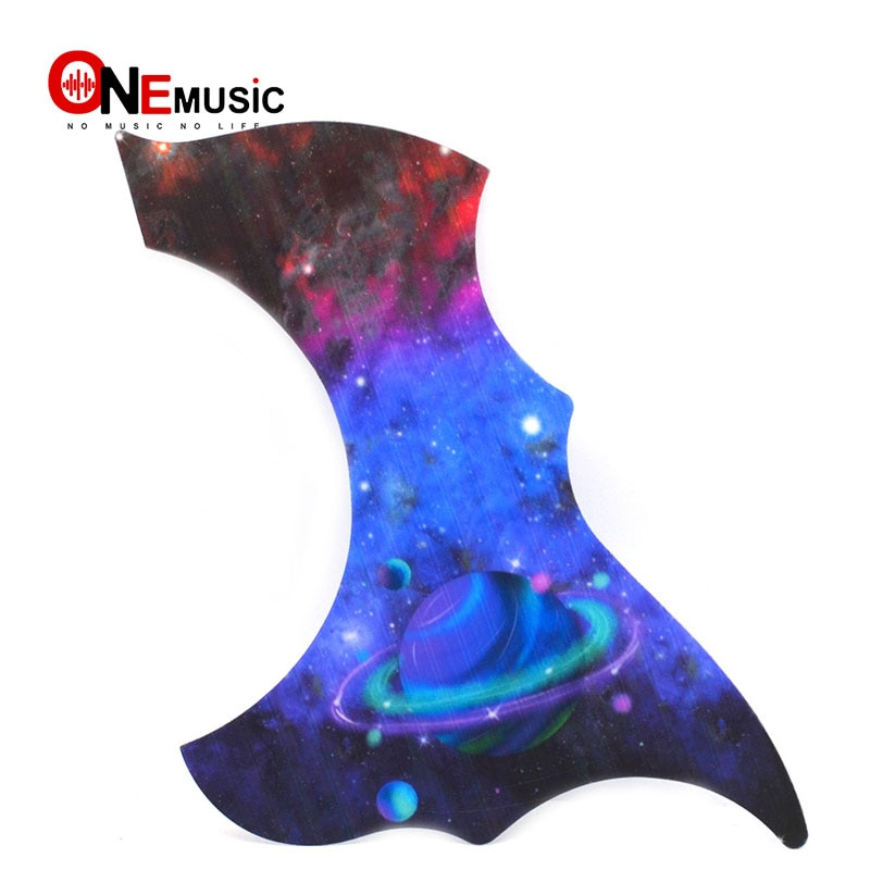 Golpeador de guitarra acústica de diseño múltiple con impresión de color, placa protectora para arañazos, autoadhesivo de repuesto
