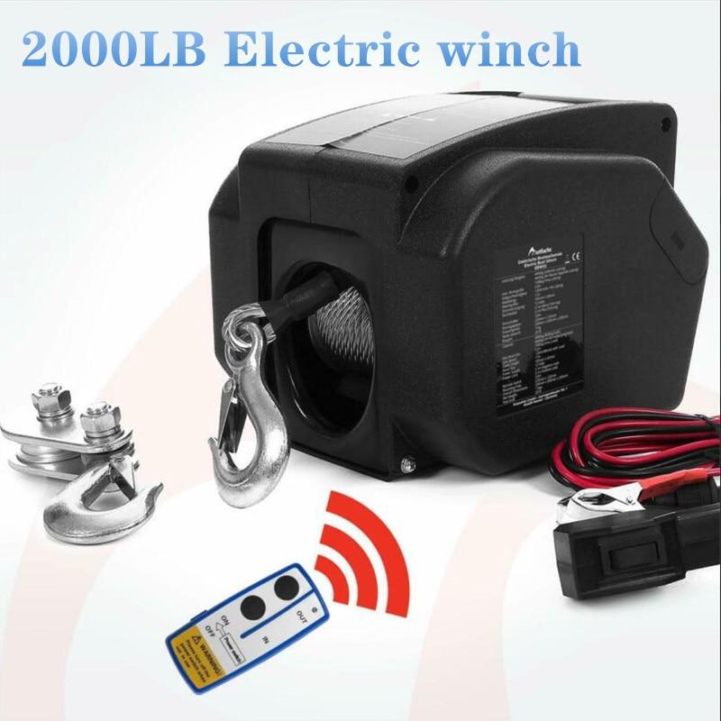 12V 2000 lbs wireless Electric winch  for marine use лебедка 12vлебедка электрическая