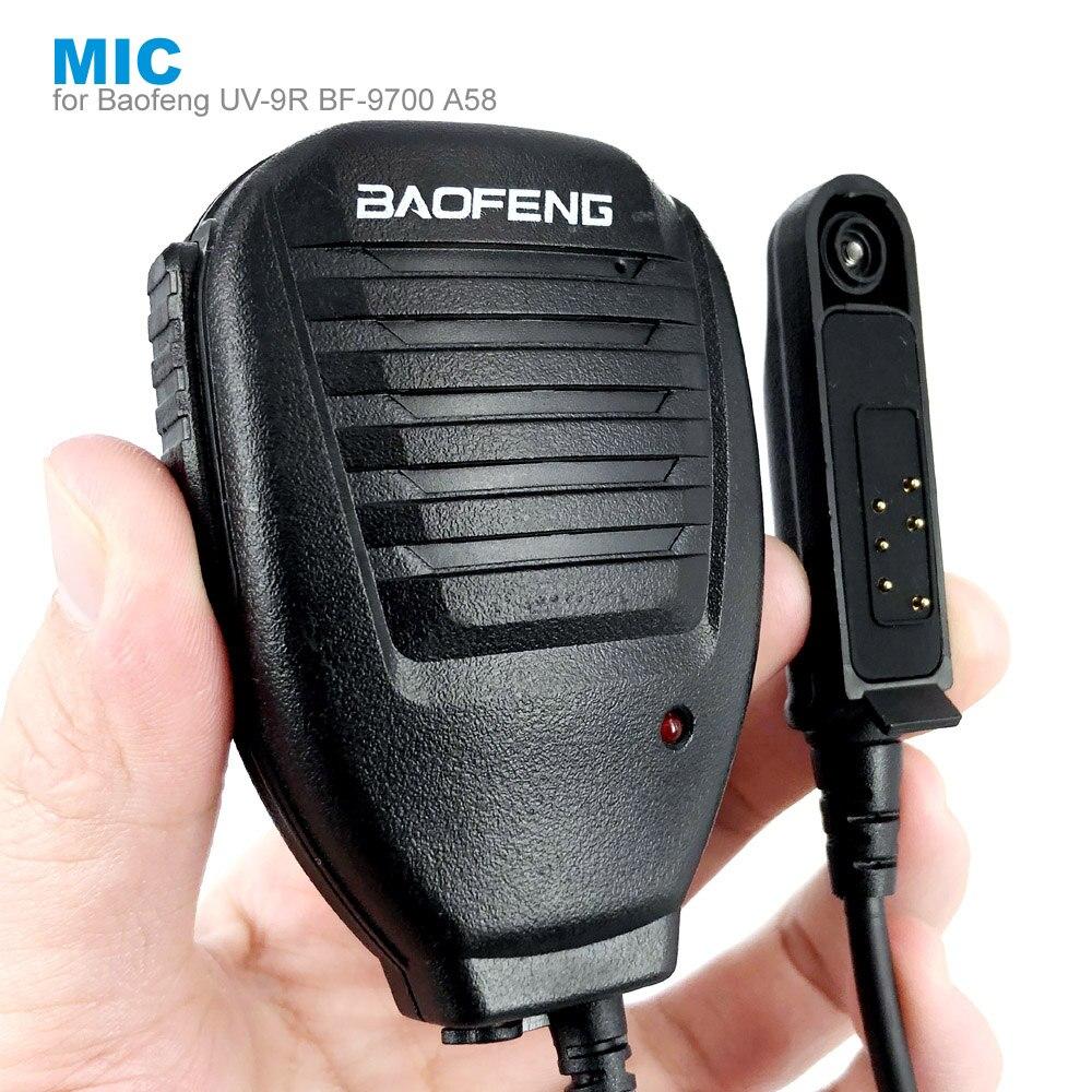 כתף PTT מיקרופון רמקול מיקרופון לbaofeng A58 BF-9700 UV-9R בתוספת GT-3WP R760 82WP עמיד למים ווקי טוקי שתי דרך רדיו
