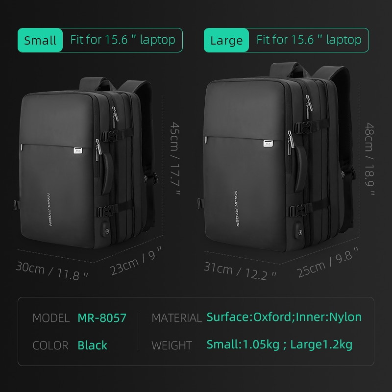 Beg galas lelaki muat beg 17 inci USB mengecas beg anti-pencurian - Beg galas - Foto 3