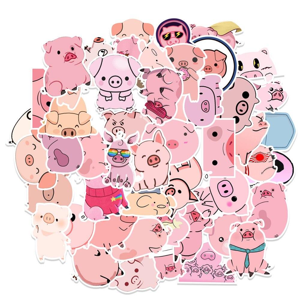 pegatinas-con-diseno-de-cerdo-kawaii-bonitas-pegatinas-decorativas-albumes-de-fotos-artesanales-10-50-uds