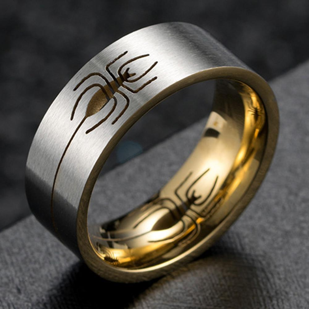 aliexpress.com - High Quality Spider Hollow Matte Finish Design Men's 2020 Personality Ring For Boys Women Boy Stainless Steel Men Cool Rings