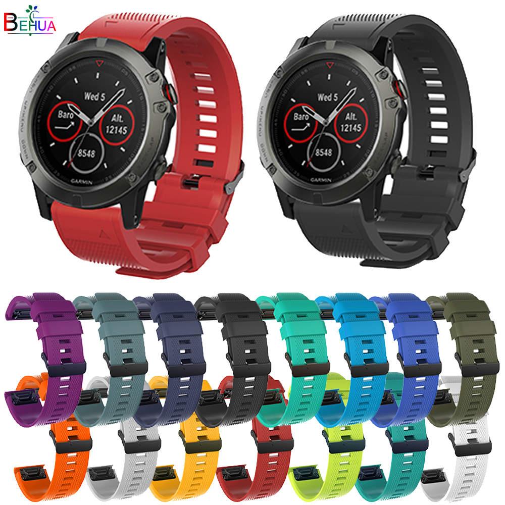 Correa de reloj de silicona de 26mm para Garmin Fenix 5X 3 3HR correa de muñeca de fácil ajuste de 22MM para Garmin Fenix 6x 6xpro braclet nuevo