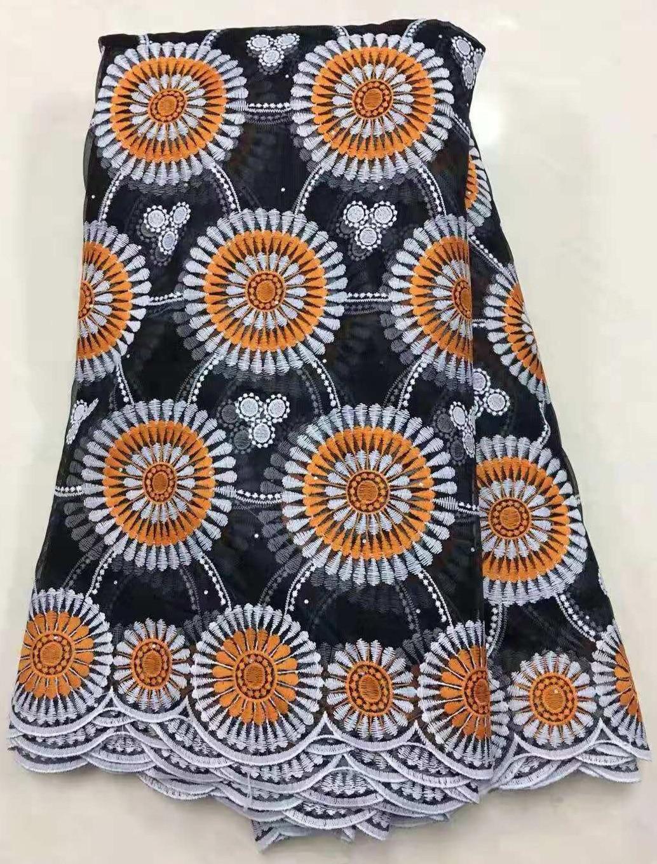 2019 Color amarillo suelo nueva llegada bordado encaje malla africano tela Organza para ropa de boda Vestido de encaje francés de alta calidad