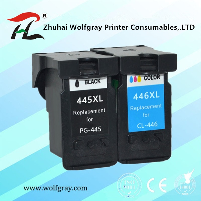 متوافق PG 445 445XL cl446 pg445 PG-445 CL-446 CL 446xl خرطوشة حبر لكانون PIXMA MG 2440 2540 2940 MX494 IP2840