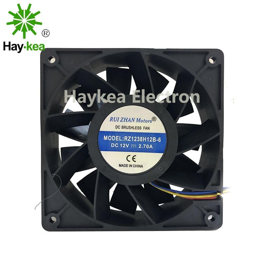 Inverter Cooling-Fan Server 12038 1238 12CM DC 12V 2.70A 120*120*38 mm PMW RZ1238H12B new nmb original 12038 24v 0 46a 4715kl 05t b40 120 120 38mm cooling fan