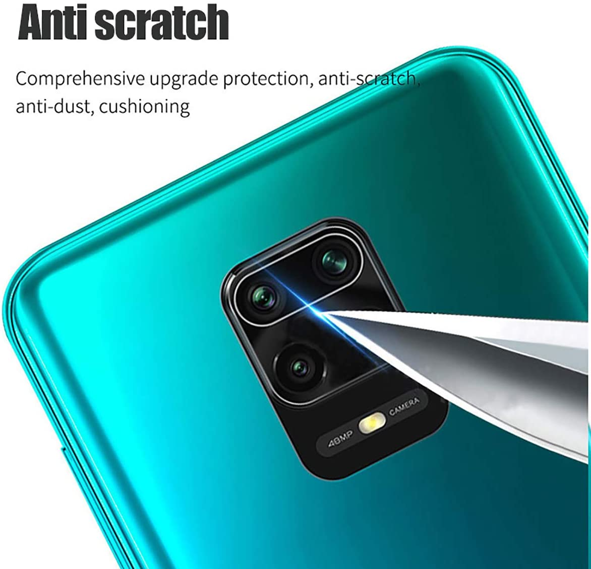 Купить с кэшбэком 5Pcs for Xiaomi Redmi Note 9 Pro 9S 10 Pro 9 9T 5G 9c NFC 8t 9a 8 Camera Lens Protector Tempered Glass Back Screen Redme 8a Glas