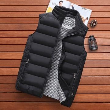 Брендовая одежда, жилет, куртка, новая мужская Осенняя теплая куртка без рукавов, мужской зимний Повседневный жилет, мужской жилет, женская ...