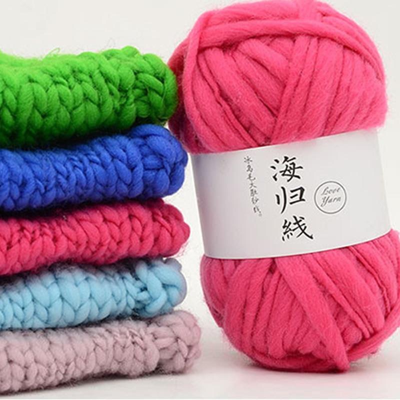 Multi-color de lana práctica gran vientre suéter tejido hilo DIY hecho a mano tejer hilo laine un tricoter para sombrero bufanda chal