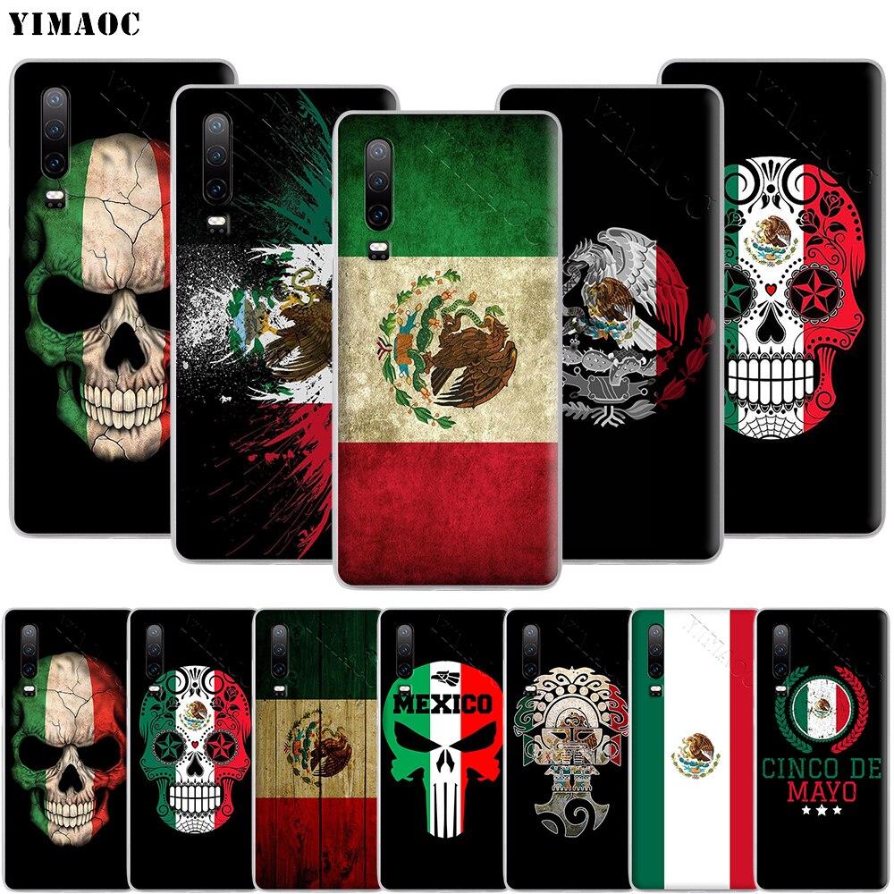 YIMAOC bandera nacional mexicana emblema de la funda del teléfono para Huawei Mate 30 20 10 Pro Lite Y6 Y7 Y9 Nova 2 3 3i 4 5i 2018, 2019