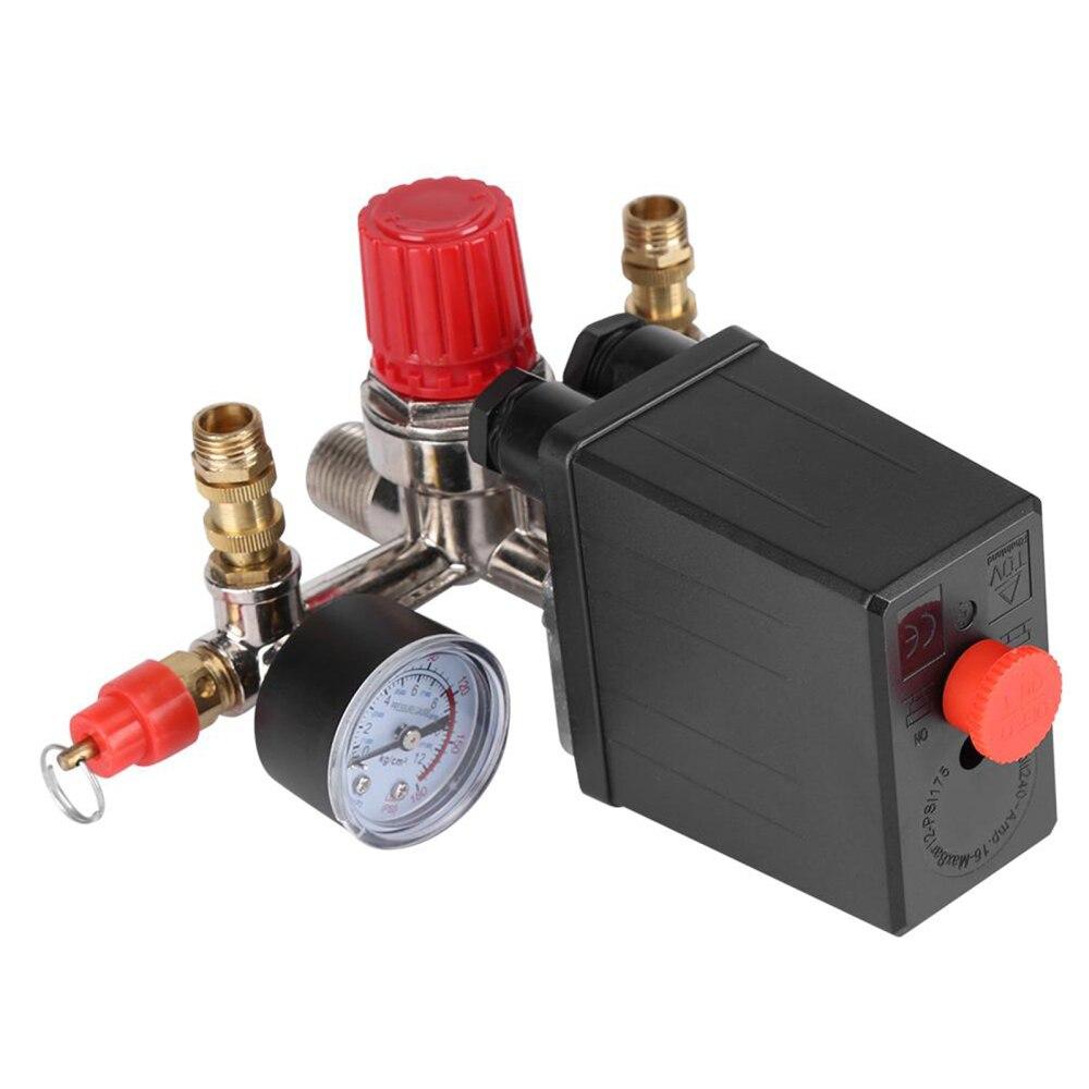 ضاغط الهواء مفتاح ضغط منظم مقاييس Manilod المعادن 1 مجموعة 230 فولت مفاتيح وملحقاتها