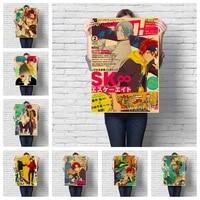 Toile de peinture dessin anime japonais SK8  la qualite de linfini  affiche  chambre denfants  salon  cafe  maison  decor artistique mural  image retro