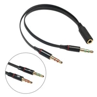 audio cable male to female 3 5mm stereo audio adapter cable for computer 1 female to 2 male mic y splitter headset to pc adapter