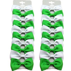 20PCS/Lot Lovely Green and Gray Hairpins Grosgrain Ribbon Bows Clips 2020 Korean Creativity Hair Accessories For Baby Girls NEW