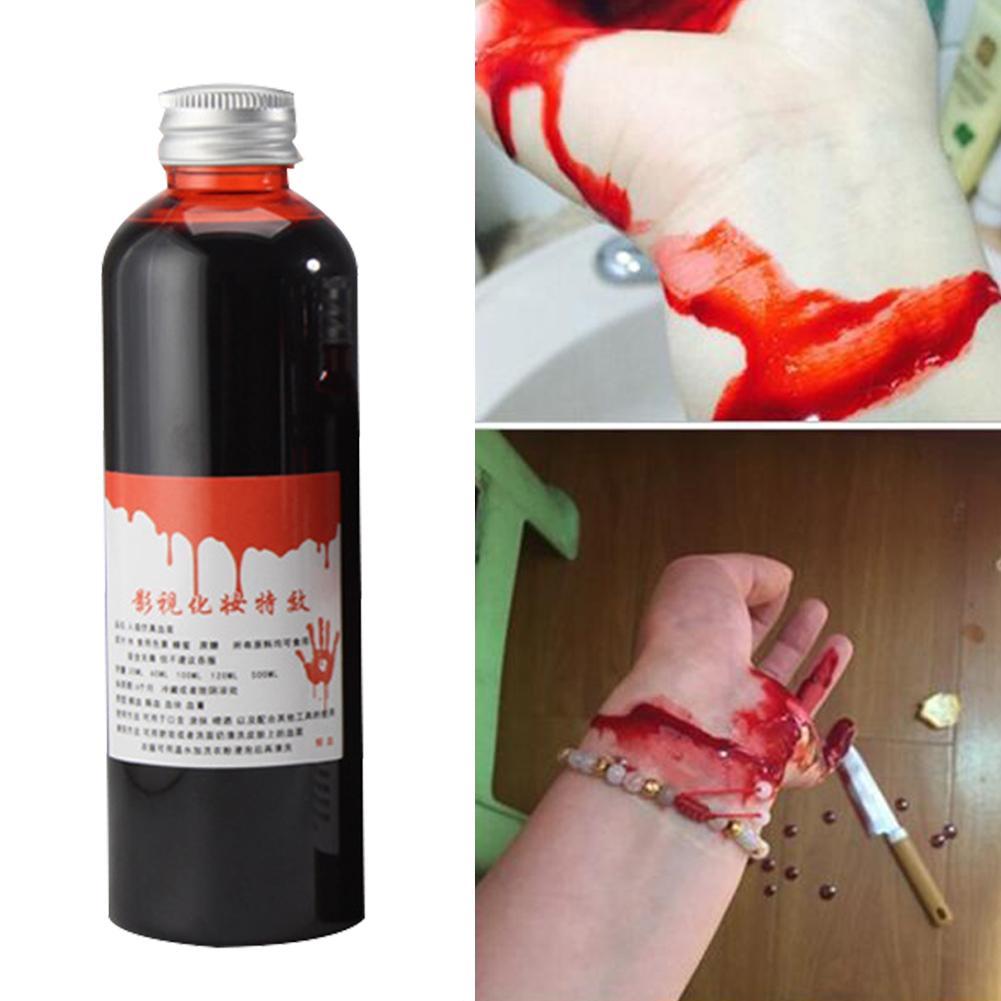 30/60ml cicatrizes de sangue falso contusões garrafa líquida estágio brincadeira teatral vampiro cosplay adereços