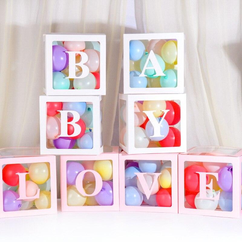 2019 nuevos productos en línea Celebrity caja transparente bebé cumpleaños fiesta globo cajas decorativas amor publicidad carta globo