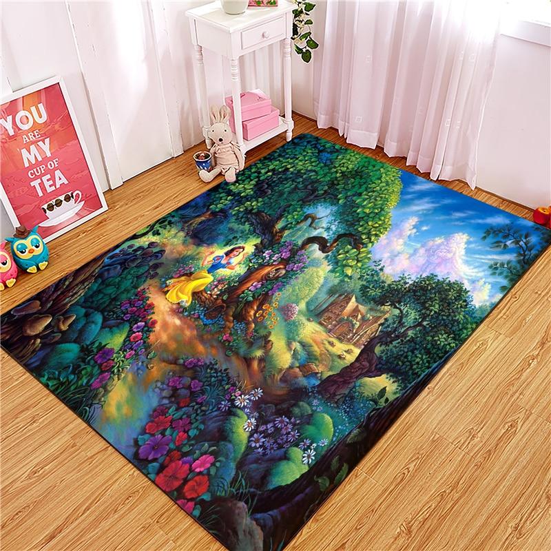 Princess Door Mat Waterproof Cartoon Anna Elsa Mat Cute Kitchen Rugs Bedroom Carpets Decorative Stair Mats Home Decor Crafts door mat sweet heart shape cute home decor floor mat4