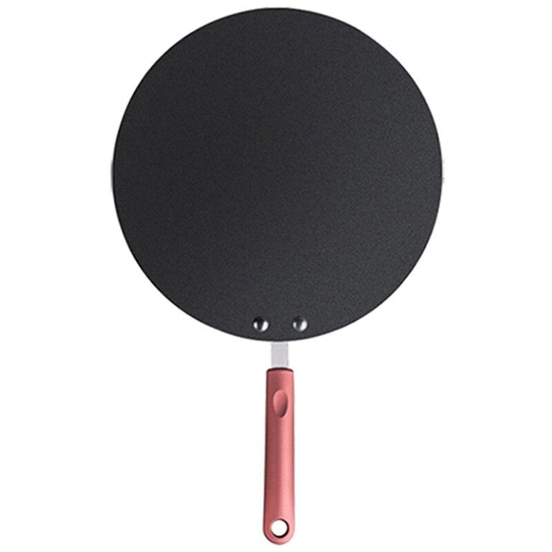 Caliente de aleación de aluminio de la sartén para pancakes Crepe Maker sartén plana plancha Pan con estabilizador y espátula Crepe plancha