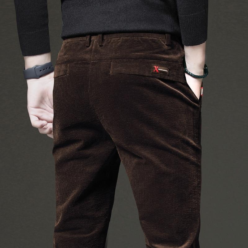 ICPANS Cord Casual Herren Hosen 2020 Korea Stil Elastische Taille Winter Bleistift Hosen Mann Overalls