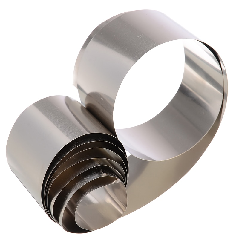 1pc haute pureté Nickel Ni plaque argent gris feuille mince feuille 0.1x30x1000mm avec résistance à la corrosion pour équipement industriel