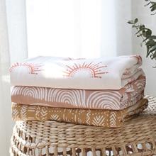 Mantas suaves de algodón de bambú para bebé, manta de muselina para recién nacido, Niña y niño, Toalla de baño para bebé
