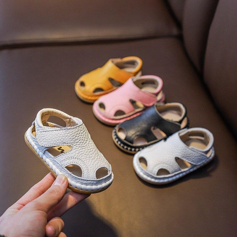 Летние детские сандалии для маленьких девочек и мальчиков; Обувь для малышей с мягкой подошвой; Детские пляжные сандалии из натуральной кожи Сандалии    АлиЭкспресс