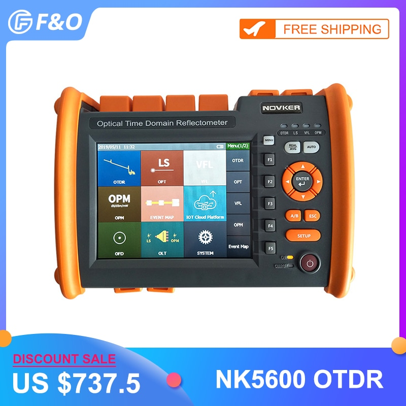 OTDR NOVKER NK5600 fibre optique OTDR 30/32DB 100km 1310/1550nm avec Source lumineuse OPM VFL