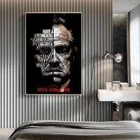 home kids bedroom wall decor poster prints wall pictures movie characters godfather retro anime nordic wall art canvas painting