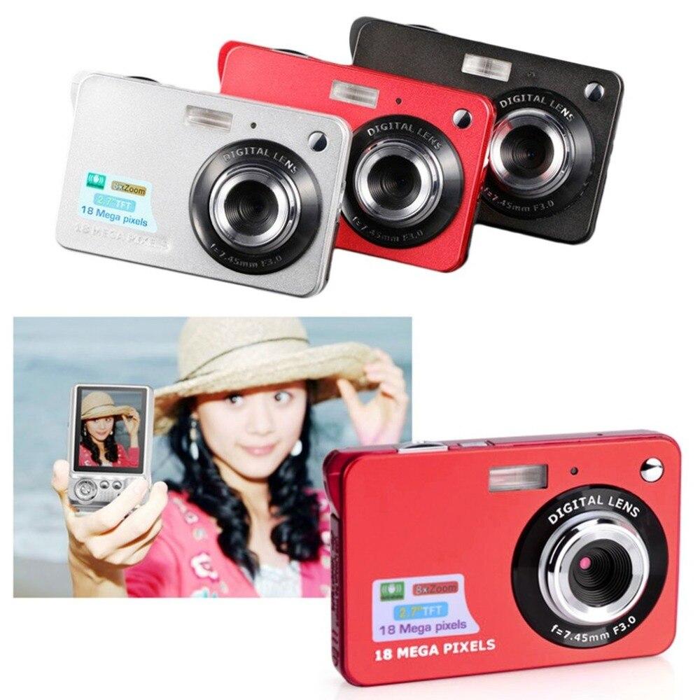 Digital Camera HD TFT LCD Display video camera 18MP 720P 8x Zoom Anti-Shake Camcorder CMOS 2.7 Inch Micro Camera Video Drop Ship enlarge