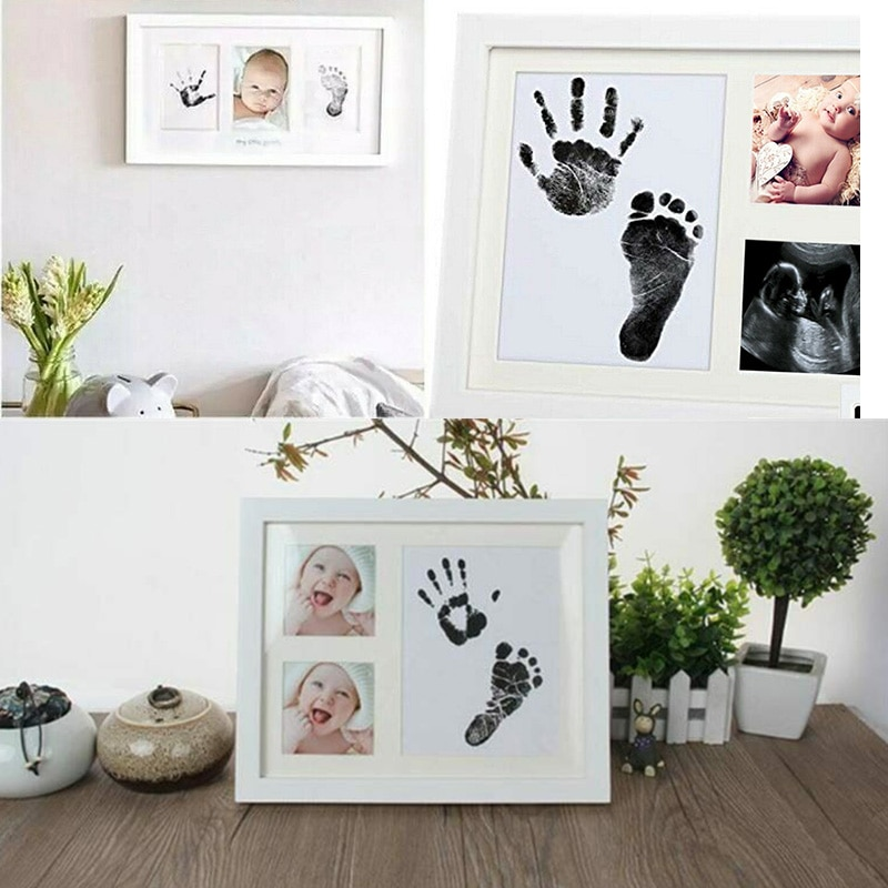 Pegadas handprints almofada de tinta segura sem ácido sem bagunça inkpad para bebê infantil vj-drop
