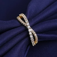 womens fashion simple style wave rings cubic zirconia stone inlaid twisted curve finger ring female trendy wedding jewelry gift