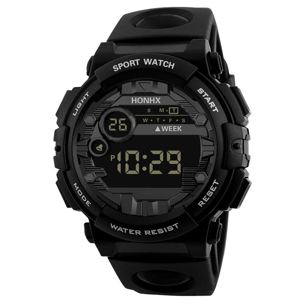 Digitale Herren uhr HONHX Luxus Herren Digital LED Uhr Datum Sport Männer Outdoor Elektronische Uhr Orologio elettronico sportivo X5