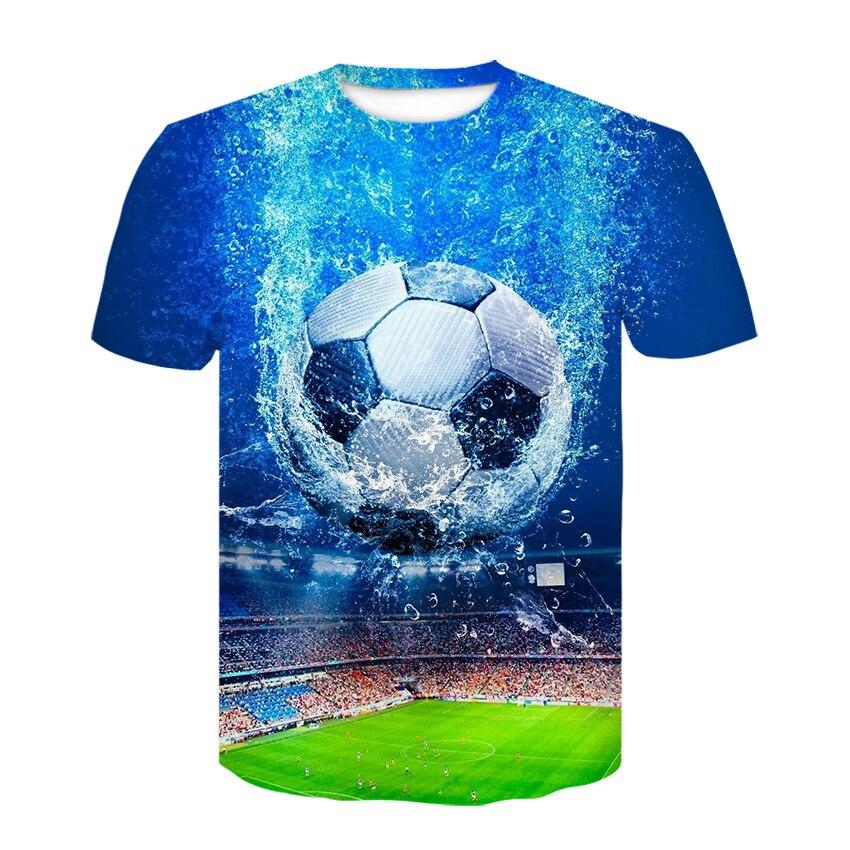 Camisetas estampadas en 3d para hombre, Camiseta deportiva de fútbol de Barcelona,...