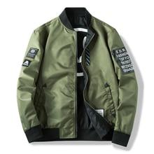 Hommes Bomber veste mince homme porter coupe-vent décontracté homme pilote veste avec patchs vert mince hommes manteau vêtements dextérieur, ZA267