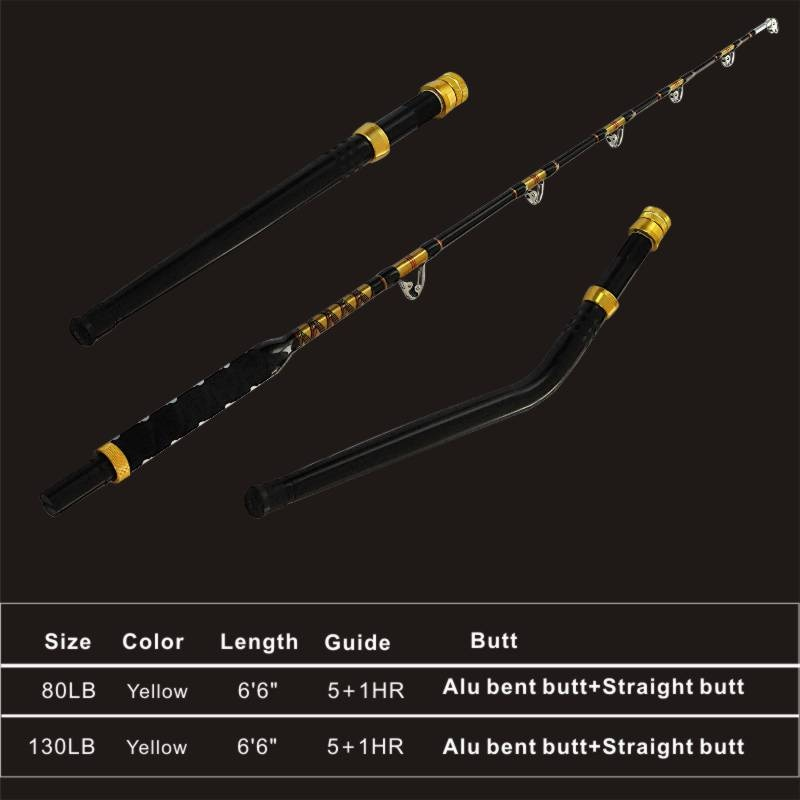 Topline Tackle Yellow Fin 80lbs 100lbs Trolling Rod and Reel Holder Vara De Pesca Sea Boat Trolling Rods Bent and Straight Butt enlarge