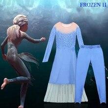 Königin Gefrorene 2 Elsa Kleider Film Cosplay Kostüm Anna Prinzessin Geburtstag Party Kleid Phantasie Kleider Kinder Kleidung