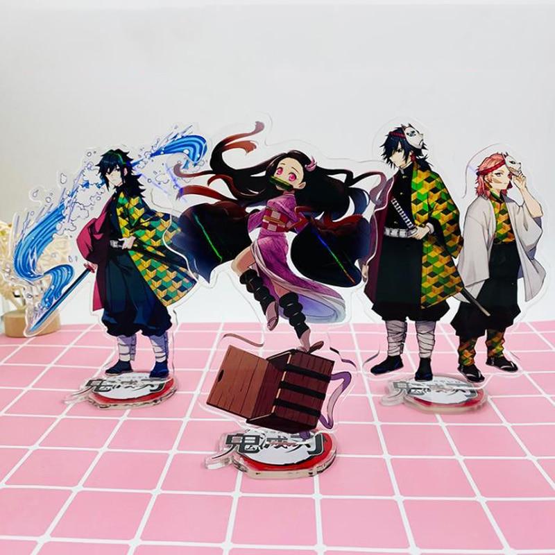 1 pièces mignon démon tueur Kimetsu No Yaiba Hashira Giyuu Muichirou Shinob acrylique support modèles support de plaque Figure jouets cadeaux