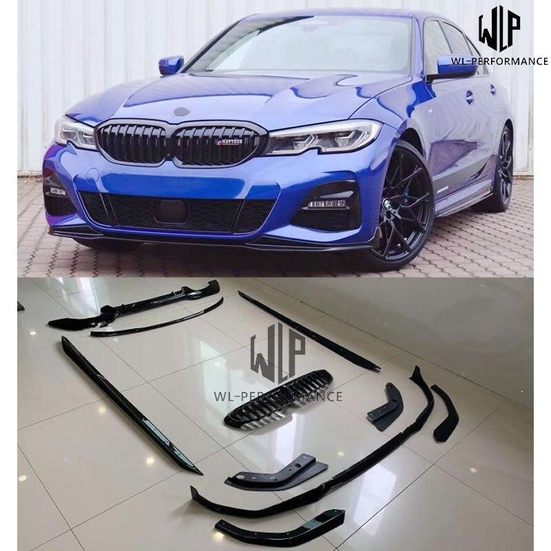 Alta calidad PP brillante Negro labio frontal faldas laterales alas rejillas de coche estilo para BMW nuevo 3 Series G20 G28 M modelo deportivo 2019-2020