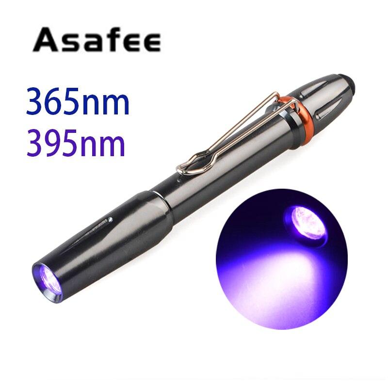 Asafee 365nM 395nM УФ светодиодный Ультрафиолетовый 5 Вт УФ-лампа отверждающий клей светильник для ручки Ультрафиолетовый черный светильник для ручки светильник для вспышки