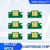 pfi107 pfi 107 ink cartridge chip for canon ipf670 ipf680 ipf685 ipf770 ipf780 ipf785 printer 6pcs