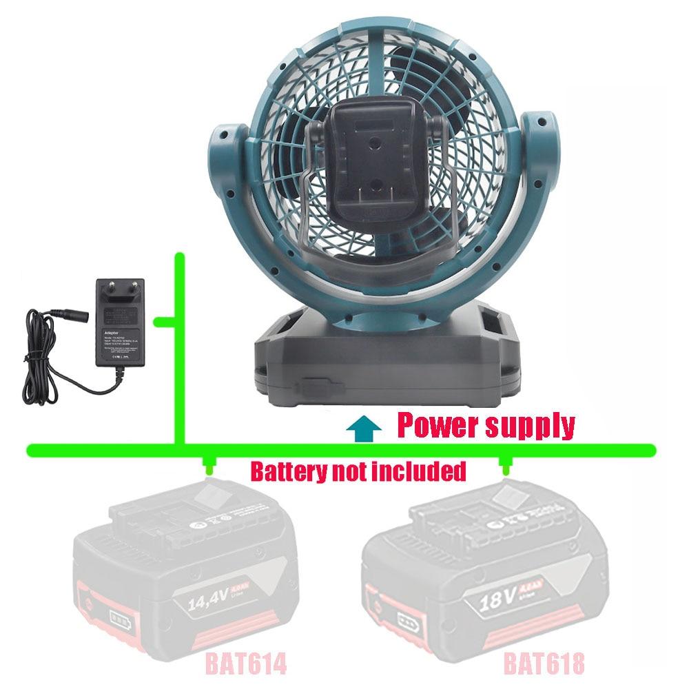 DCF102 المحمولة اللاسلكي مروحة كهربائية لبوش 14.4 فولت 18 فولت 20 فولت بطارية ليثيوم BAT609 BAT609G BAT618 BAT618G BAT614